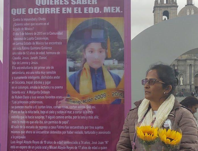 Que violación y homicidio de la niña Fátima se juzgue con perspectiva de género
