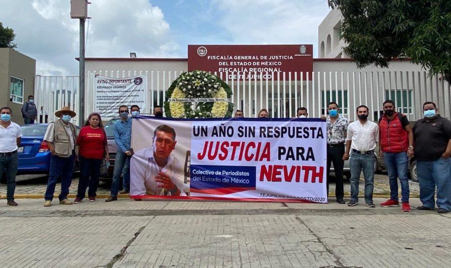 Periodistas exigen justicia en caso Nevith a un año de su asesinato