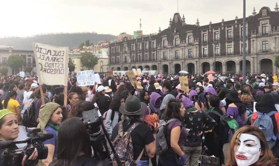 ¡Alto a la represión de la protesta feminista!, exigen a Edomex